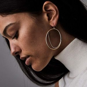 NEW Jenny Bird Rill Small Hoops, High Polish Gold